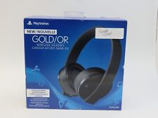 Sony PlayStation 4 PS4 Gold Wireless Stereo Headset (3002498) (Full Set) (TH)