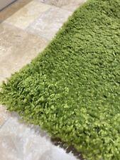 Square soft bright Green Rug 80x80cm indoor non-slip accent colour interior