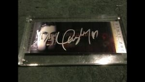 Taylor Swift Signed Reputation VIP Ticket In Case