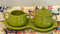 Fiestaware Lemongrass Cream and Sugar 4 pc Set Fiesta Green Coffee Tea Set