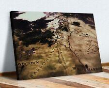 Game Of Thrones MAP CANVAS WALL ART PRINT ARTWORK DEPP FRAMED 30mm