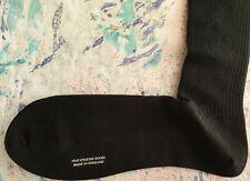 Pantherella Men's English Naish Long Wool Socks Black Rib UK 9-10 43-44 RRP £20