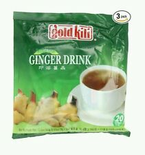3 Bags INSTANT GINGER TEA DRINK GOLD KILI 3 PACK = 60 Sachets