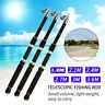 2PCS Telescopic Fishing Rod Sea Fishing Pole Stick Casting Rods Travel Set