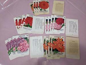 Vintage Lot Of 25 Flower Seed Packets- Wilmington NC- Unused