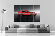 Porsche 911 2016 Rouge Red  Wall Poster Grand format A0 Large Print