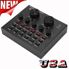 V8 Audio Live Sound Card Volume Microphone Headset Mixer Broadcast Voice Changer