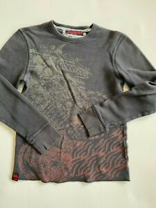 Tony Hawk Long Sleeve Waffle Textured Graphic Thermal T-Shirt Youth Boy's XL