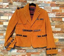 Dsquared2  Size 42 Studded Corduroy Jacket w/ Leather Details