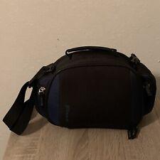Targus Black & Blue Travel Size Camera Bag W/Shoulder Strap