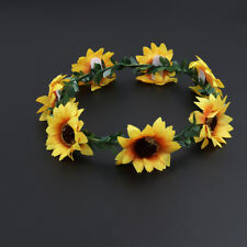 Floral Fall Sunflower Head Band Lovely Decorative Headpiece Festivals Hair Band