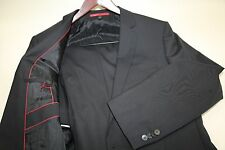 Hugo Boss Amaro Heise Red Label Black Suit Size 46 R