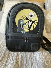 Loungefly Nightmare Before Christmas Jack & Sally Mini Backpack Glow In The Dark