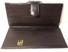 Vintage Alfred Dunhill Wallet Kisslock Black Leather Made in England Authentic