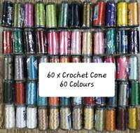 60 Colours Crochet Viscose Silk Rayon Knitting Embroidery Thread Yarn Jewelry UK