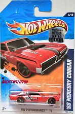 HOT WHEELS 2011 HW PERFORMANCE '68 MERCURY COUGAR RED FACTORY SEALED