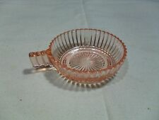 Vintage ~ Depression Glass Queen Mary Single Handle Bowl ~ Pink