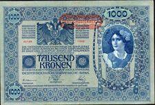 AUTRICHE-HONGRIE Surcharge ALLEMAGNE,1000 Couron 1902, émis en 1919..Pick61.