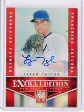 2012 ELITE EXTRA EDITION #74 LOGAN TAYLOR AUTOGRAPH RC #86/712, NY METS
