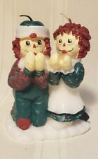Vintage Raggedy Ann and Andy Praying Christmas Candle