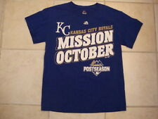 MLB Kansas City Royals Major league Baseball Fan 2015 postseason Blue T Shirt S