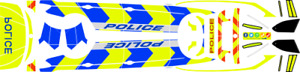 1/43 Generic UK Police Arrow Style Decal for Paragon BMW 3 Series Touring (F31)