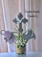 Baptism centerpieces sticks/ Lavender decorations/ angel decoration