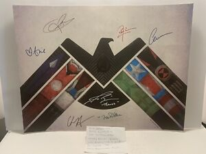 Avengers 157/175 Limited Ed. Rare JSA Signed Brie Larson Chris Evans Zoe Saldana