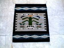 Auth.Native American Indian Navajo Tree of Life Design Wool Rug by Marylin John