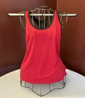 Energy Zone women's active wear top size L 92% polyester 8% spandex red