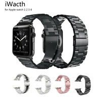 Replacement For Apple Watch Series 5 4 3 2 1 Bracelet Strap Metal Band 40mm 44mm