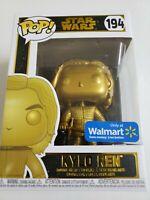 Funko POP! Disney Star Wars  Kylo Ren #194 Gold Metalic Walmart Exclusive