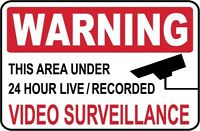 Video Surveillance Sign..+ 1 Window Decal- #PS-419