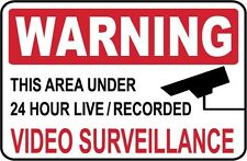 2 - Warning - Video Surveillance Signs.- #Ps-513/14.Large.