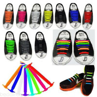 Colorful No Tie Elastic Silicone Shoe Laces For Adults Trainers Shoes Canvas 55