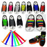 Colorful No Tie Elastic Silicone Shoe Laces For Adults Trainers Shoes Canvas NEW