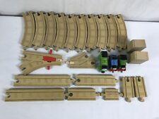 Lot of 24 Thomas & Friends the Train Engine Wooden Railway Tank Tracks Risers