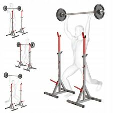 HEAVY DUTY BARBELL SQUAT STANDS POWER RACK BENCH PRESS WEIGHT LIFTING