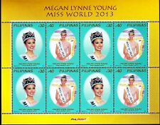 2014 Philippines MISS WORLD Megan Young complete small sheetlet of 8 mint NH