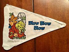 1970 Krofft Pufnstuf Cereal Box Premium Pennant Flag Kelloggs Vintage Winds Toy
