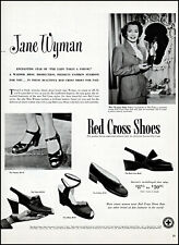 1949 Jane Wyman photo Red Cross women's shoes vintage print Ad adL41