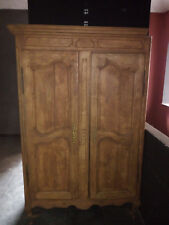 armadio in legno a due ante primi '900, artigianale, vintage