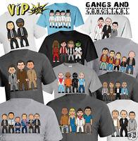 VIPwees Mens ORGANIC TShirt Gang Gangster Movie Inspired Caricature ChooseDesign