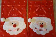 PERSONALISED CHRISTMAS SANTA SACK NAME EMBROIDERED LARGE STOCKING XMAS GIFT
