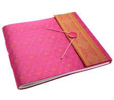 Fair Trade Handmade Large Sari Photo Album Scrapbook Pink