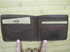 NEW FOSSIL Men's Wallet ID BIFOLD LEATHER BROWN Vintage Heritage PASSCASE