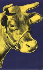 Andy WARHOL Cow Yellow On Blue Litho Print  33 x 20-1/4