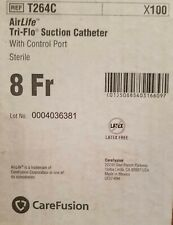 AirLife Suction Catheter T64C Tri-Flo With Control Port 8 Fr Case of 100 Sterile