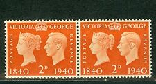 Great Britain 1940, Victoria & George VI. Centenary of First Stamp, Pair MNH 260