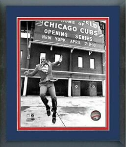 "Ernie Banks Chicago Cubs Wrigley Field Photo (Size: 12.5"" x 15.5"") Framed"